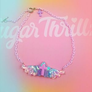 Pastel fairykei angel wings necklace 🌈